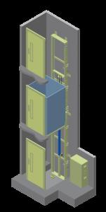 Компактный лифт для промышленных зданий
