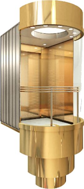 Лифт панорамного обзора №1